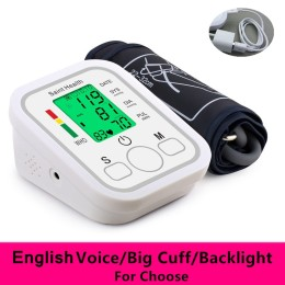 Arm Automatic Blood Pressure Monitor BP Sphygmomanometer Pressure Meter Tonometer for Measuring Arterial Pressure
