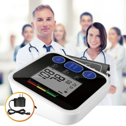 Upper Arm blood pressure Pulse monitor LCD Portable Home Health Care