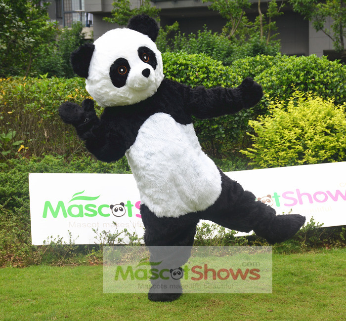 Professional Panda Bea. & Professional Panda Bear Mascot Fancy Dress Costume Adult Size EPE ...