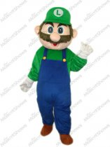 Hot Super Mario Character Luigi Mascot Costume Fancy Dress Free Shipping Adult