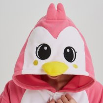 New Pink Penguin Onesie For Adult Pajamas Kigurumi For Halloween One-piece Polar Fleece Fabric Jumpsuit Pijama Cosplay Parties