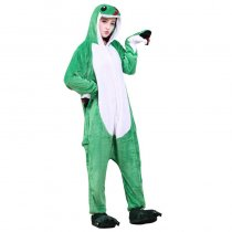 Funny Soft Green Snake Flannel Unisex Adult Pajamas Kigurumi Cosplay Costume Animal Onesie Sleepwear For Halloween Cosplay