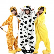 Large Size XXL Animal Kigurumi Adult Cartoon Pajamas Flannel Women Onesie Cosplay Clothing Halloween Party Jumpsuit Sleepwear