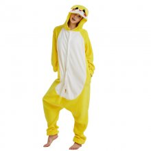 Soft Fleece Yellow Bunny Kigurumi Women Pajamas Rabbit Onesie For Adult Winter Home Cosplay Costume Party Jumpsuit Halloween