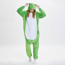 Soft Green Frog Kigurumi For Adult Animal Onesie Men Jumpsuit Carnival Pajamas For Women Suit Sleepwear Halloween Cosplay Party