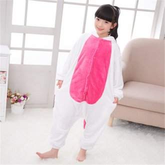 Funny Kids Unicorn Kigurumi Cartoon Onesie Flannel Boys Pajamas Baby One-piece Sleepwear Cosplay For Halloween Jumpsuit