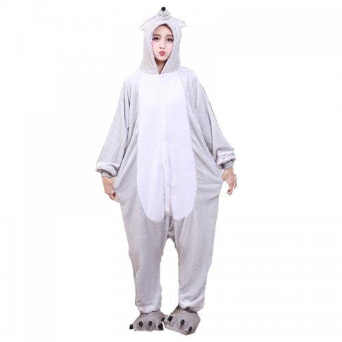 6f444289c93c4 Soft Adult Onesies Mouse Animal Pajamas Unisex Men Mice Pyjamas Gray Party  Jumpsuit Warm Flannel Winter Funny Kigurumi