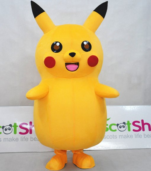 Pokemon Go Pikachu Mascot adult Costume BIG Body size Nice Looking Hot selling