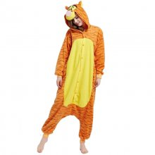Deguisement Tigre Kigurumi combinaison Costume animal Polaire Orange Adulte Onesie Pyjamas Femmes de Nuit Pyjamas Cosplay