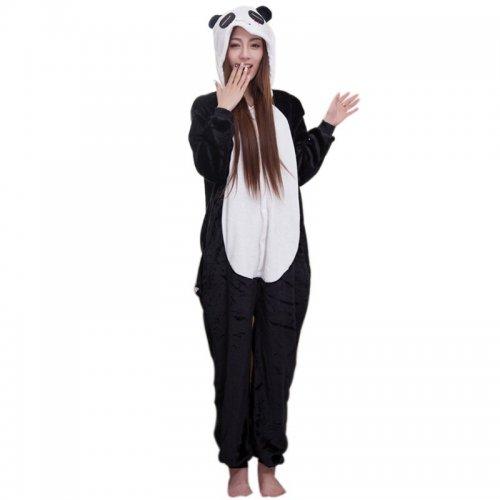 a099c3528b710 Pyjama Déguisement Combinaison Costume Costume scène Panda Kigurumi Ours  Caractère Adulte Hiver Chaud chemise de Nuit