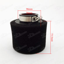 Black 38mm Straight Neck Dual Sponge Foam Air Filter For 110cc 125cc ATV Quads Pit Dirt Monkey Bikes