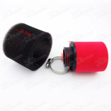 Red/Black 38mm Straight Neck 2 Stage Sponge Foam Air Filter For GY6 50cc Moped Scooters 110cc 125cc Dirt Pit Bike ATV Quad