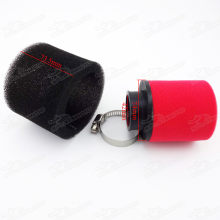 Red/Black 42mm Straight Neck 2 Stage Sponge Foam Air Filter For GY6 150cc 157QMJ Moped Scooters 125cc 140cc Dirt Pit Bike ATV Quad