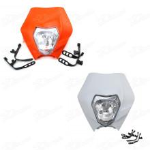 Headlight Head Front Light Lamp For KTM ENDURO MOTOCROSS STREETFIGHTER HEADLIGHT ALIEN SX SXF XR WR CR RMZ DR DRZ R EXC XC XCF KLX 250 65 85 105 350 450 525 Dirt Bike Trail Motorcycle