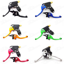 New Pitbike Folding Brake Clutch Levers Aluminium Foldable Level For Stomp Thumpstar YCF SDG SSR Orion Coolster Taotao Pit Pro 140 150 160cc 50-250cc CRF XR KLX Pit Dirt Trail Bikes Motorcycle Motocross