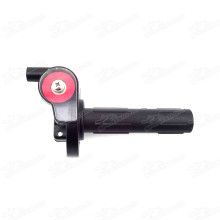 Pitbike Quarter 1/4 Turn Visible Plastic Twist Throttle For Pit Dirt Bike Motard Stomp Orion Thumpstar Braaap Atomic DHZ SSR 50-190CC Chinese Pitbike BSE KAYO