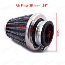 35mm Air Filter Cleaner 50cc 70cc 90cc 110cc Monkey Dirt Pit Monkey DAX, Gorilla MSX125 Bike ATV Quad Go Kart Buggy Pitbike Motard Motorcycle Scooter Moped