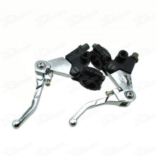 Bi-fold Brake Clutch Lever Level Foldable For Pit Dirt Trail Bike Motocross Drum Brake Cafe Racer Honda Motorcycle ATC Pitbike Motard ATV Quad