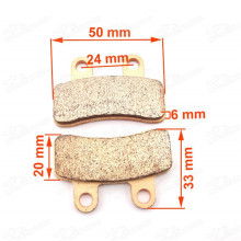 Heavy Duty Disc Brake Pads Caliper Shoes For Apollo Orion SDG SSR Thumpstar Atomik Pit Dirt Trail Bikes Motorcycle Motard Pitbike