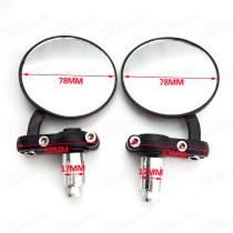 Motorcycle Side Aluminum Rearview Rear View Back Mirror Fits 17mm Handle Bar End MotorBike Cafe Racer Street Bike