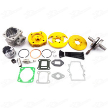 Big Bore kit 44mm Cylinder Piston Crankshaft Set For 47cc 49cc Pocket Bikes Mini Dirt ATV Minimoto Quad