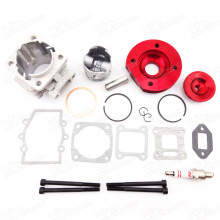 44mm 2 Stroke Engine Big Bore Kit Cylinder Body Head Set For 47cc 49cc Mini Dirt ATV Quad Pocket Bikes Minimoto