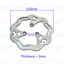 120mm brake disc for 33 43 49cc gas / electric scooter pocket bike ID=26mm