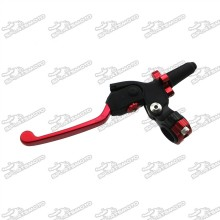 Red Black IGP Profile Pro Clutch Perch Folding Lever For Pit Dirt Bike Mototrcycle