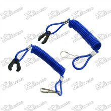 Blue Safety Tether Lanyard Cord For Kill Switch Jet Ski Boat Yamaha Raptor Banshee Blaster ATV Quad 4 Wheeler