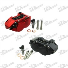 Performance Racing 4-piston Brake Caliper For Pit Dirt Mini Super Motard Bike Scooter Motorcycle