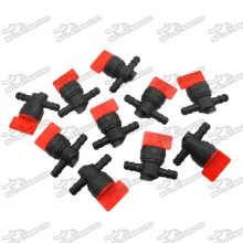 10pcs 8mm Plastic Fuel Gas Shut Off Valve For 494768 698183 Briggs Stratton