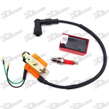 Racing Ignition Coil + A7TC Spark Plug + 5 Pin AC CDI Box For 50cc 70cc 90cc 110cc Chinese ATV Quad 4 Wheeler Pit Dirt Motor Bike