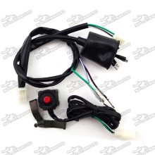 Wiring Loom Harness + Kill Stop Switch For Chinese 50cc 70cc 90cc 110cc 125cc 140cc 150cc 160cc Pit Dirt Bike Motocross