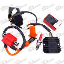 Ignition Coil + 6 Pin AC CDI Box + D8TC Spark Plug + Solenoid Relay + Regulator Rectifier For 150cc 200cc 250cc Engine Chinese ATV Quad 4 Wheeler