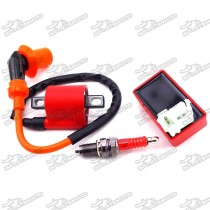 Racing Ignition Coil 6 Pin AC CDI Box + D8TC Spark Plug For CG 125cc 150cc 200c 250cc Chinese ATV Quad 4 Wheeler Pit Dirt Bike Motorcycle