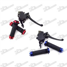 Blue 7/8  22mm Alloy Handle Grips Thumb Throttle Brake Lever Accelerator Assembly For 125cc 150cc 200cc 250cc Chinese ATV Quad