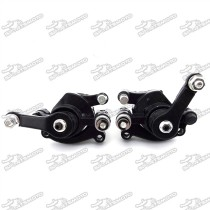 Black Front & Rear Disc Brake Caliper For 2 Stroke 47cc 49cc Chinese Pocket Bike Mini Scooter Kids Dirt Bike Baby Crosser Minimoto