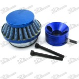 Blue 44mm Air Filter + Adapter Vstack For Big Foot Blade Gas Z Scooter Goped Mini ATV Dirt Bike Pocket Bike