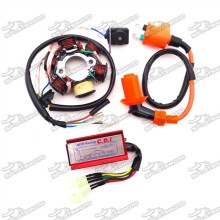 Stator Magneto + Racing Ignition Coil + 6 Pin AC CDI Box For Chinese GY6 50cc Engine Moped Scooter ATV Quad 4 Wheeler