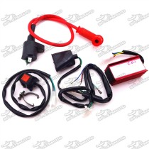 Engine Kill Stop Switch + Racing Ignition Coil + 5 Pin AC CDI Box + Wirings Loom Harness For Chinese Pit Dirt Bike 50cc 90cc 110cc 125cc 150cc 160cc Lifan YX