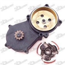T8F 11 Tooth Double Chain Clutch Drum Gear Box + Clutch Pad For 47cc 49cc 2 Stroke Engine Chinese Mini Dirt Pocket Bike Minimoto