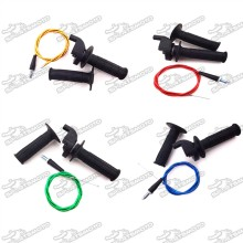 Black Twist Throttle Handle Grips + 108mm 990mm Throttle Cable For Chinese Pit Pro Dirt Bike Motorcycle XR50 CRF50 CRF70 KLX110 SSR TTR Thumpstar YCF