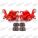 Front Rear Disc Brake Caliper Pads For 43cc 47cc 49cc Chinese Mini Moto Kids ATV Quad 4 Wheeler Dirt Bike Gas Scooter Minimoto