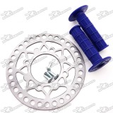 200mm Rear Brake Disc Disk Rotor Bolts Screws Throttle Handle Grips For Chinese CRF50 SSR Pit Dirt Trail Bike Motorcycle