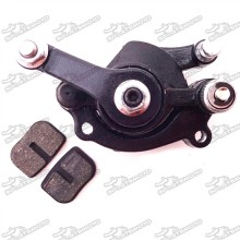 Black Rear Disc Disk Brake Caliper + Brake Pads For 2 Stroke 43cc 47cc 49cc Chinese Mini Moto Scooter Dirt Pocket Bike Kids ATV Quad 4 Wheeler