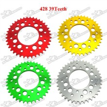 428 39 Teeth 76mm Aluminum Billet Rear Sprocket For 50cc 190cc Braaap Atomic Pitpro Pitster Pro DHZ SSR Piranha Pit Dirt Bike
