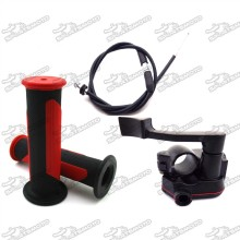 Alloy Thumb Throttle Cable Durable Handle Grips Cable For 50cc 70cc 90cc 110cc 125cc 150cc 200cc 250cc ATV Quad 4 Wheeler