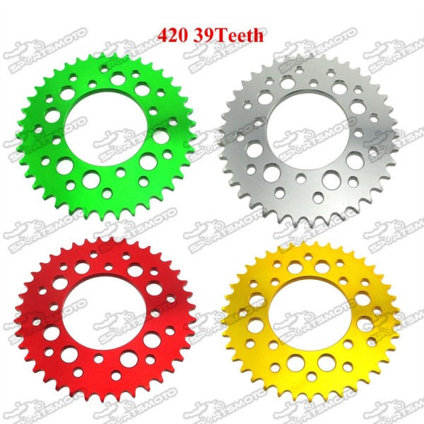420 39 Teeth 76mm Aluminum Billet Rear Sprocket For 50cc-190cc WPB Orion M2R Lucky MX Thumpstar Explorer Pit Dirt Bike