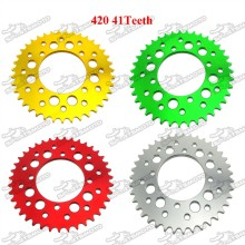 420 41 Teeth 76mm Aluminum Billet Rear Sprocket For 50cc 70cc 90cc 110cc 125cc 140cc 150cc 180cc 190cc Pit Dirt Bike