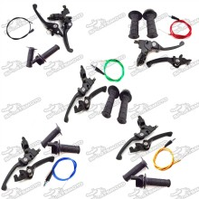 Brake Clutch Lever + Throttle Handle Grips + Throttle Cable For 50cc 70cc 90cc 110cc 125cc 140cc 150cc 160cc Pit Dirt Bike